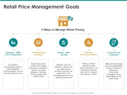Retail Price Management Goals Performance Metrics Ppt Powerpoint Presentation Professional
