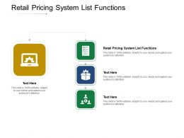 Retail Pricing System List Functions Ppt Powerpoint Presentation Gallery Example Topics Cpb