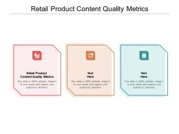 Retail Product Content Quality Metrics Ppt Powerpoint Presentation Icon Influencers Cpb