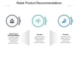 Retail Product Recommendations Ppt Powerpoint Presentation Summary Show Cpb