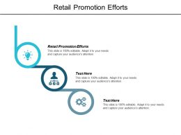 Retail Promotion Efforts Ppt Powerpoint Presentation Layouts Template Cpb