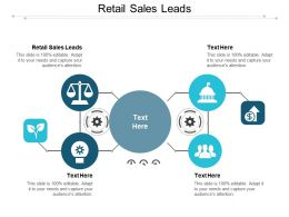 Retail Sales Leads Ppt Powerpoint Presentation Infographics Professional Cpb