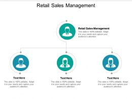 Retail Sales Management Ppt Powerpoint Presentation Infographics Samples Cpb