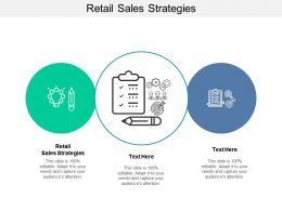 Retail Sales Strategies Ppt Powerpoint Presentation Infographics Example Cpb