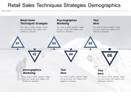 Retail Sales Techniques Strategies Demographics Marketing Psychographics Marketing Cpb