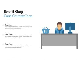 Retail Shop Cash Counter Icon