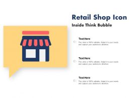 Retail Shop Icon Inside Think Bubble