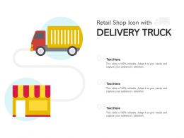 Retail Shop Icon With Delivery Truck
