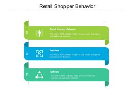 Retail Shopper Behavior Ppt Powerpoint Infographic Template Visual Aids Cpb