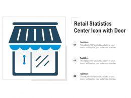 Retail Statistics Center Icon With Door
