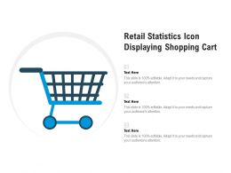 Retail Statistics Icon Displaying Shopping Cart