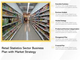 Retail Statistics Sector Business Plan With Market Strategy