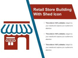 Retail Store Building With Shed Icon