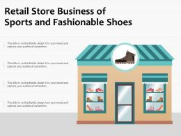 Retail Store Business Of Sports And Fashionable Shoes