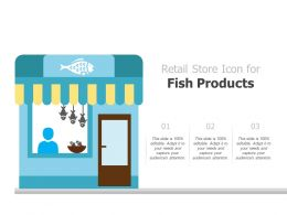 Retail Store Icon For Fish Products