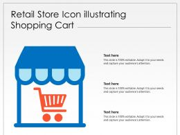 Retail Store Icon Illustrating Shopping Cart