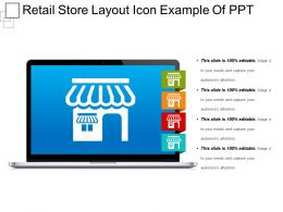 Retail Store Layout Icon Example Of Ppt