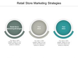 Retail Store Marketing Strategies Ppt Powerpoint Presentation Infographic Template Tips Cpb