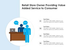 Retail Store Owner Providing Value Added Service To Consumer