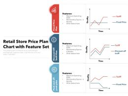 Retail Store Price Plan Chart With Feature Set