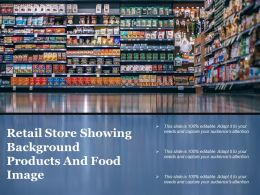 Retail Store Showing Background Products And Food Image