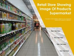 Retail Store Showing Image Of Products Supermarket