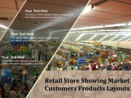 Retail Store Showing Market Customers Products Layouts