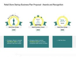 Retail Store Startup Business Plan Proposal Awards And Recognition Ppt Influencers