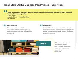 Retail Store Startup Business Plan Proposal Case Study Ppt Powerpoint Introduction