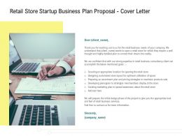 Retail Store Startup Business Plan Proposal Cover Letter Ppt Powerpoint Styles