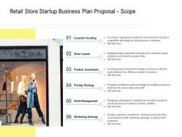 Retail Store Startup Business Plan Proposal Scope Ppt Powerpoint Professional