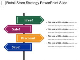 Retail Store Strategy Powerpoint Slide