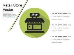 Retail Store Vector Powerpoint Slides