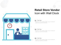 Retail Store Vendor Icon With Wall Clock