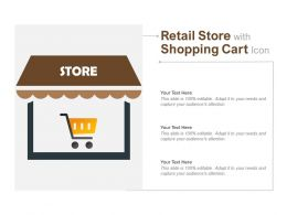 Retail Store With Shopping Cart Icon