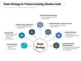 Retail Strategy For Product Including Situation Audit
