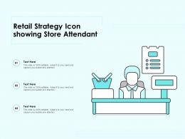 Retail Strategy Icon Showing Store Attendant