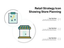 Retail Strategy Icon Showing Store Planning