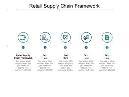Retail Supply Chain Framework Ppt Powerpoint Presentation Summary Designs Cpb