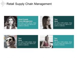 Retail Supply Chain Management Ppt Powerpoint Presentation File Grid Cpb