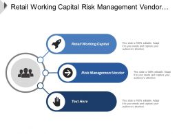 Retail Working Capital Risk Management Vendor Marketing Strategies Cpb