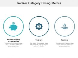 Retailer Category Pricing Metrics Ppt Powerpoint Presentation Layouts Smartart Cpb