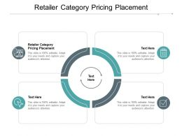 Retailer Category Pricing Placement Ppt Powerpoint Presentation Styles Guide Cpb