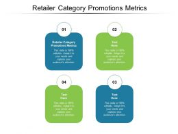 Retailer Category Promotions Metrics Ppt Powerpoint Outline Background Cpb