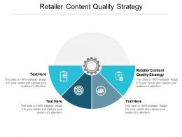 Retailer Content Quality Strategy Ppt Powerpoint Presentation Layouts Infographics Cpb