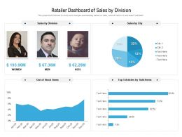 Retailer Dashboard Of Sales By Division
