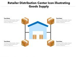 Retailer Distribution Center Icon Illustrating Goods Supply