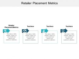 Retailer Placement Metrics Ppt Powerpoint Presentation Gallery Professional Cpb
