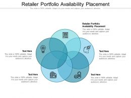 Retailer Portfolio Availability Placement Ppt Powerpoint Presentation Ideas Shapes Cpb