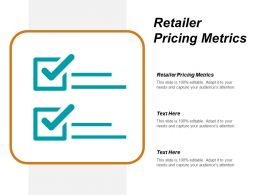 Retailer Pricing Metrics Ppt Powerpoint Presentation Show Model Cpb